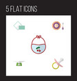 flat icon kid set of children scales nipple vector image vector image