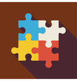 Flat Puzzle with long Shadow vector image vector image