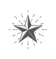 flat star is depicted on a background fireworks vector image vector image