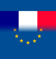 france national flag with a star circle of eu vector image vector image