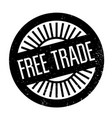 free trade rubber stamp vector image vector image