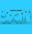 germany dresden winter holidays skyline merry vector image vector image