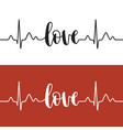 heartbeat love vector image