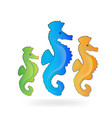 horse-fish community group icon vector image