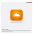 hot pot icon orange abstract web button vector image
