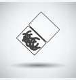 icon of worm container vector image vector image