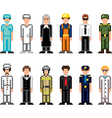 icons professions pixel vector image vector image