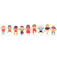 jumping children happy jumped kids joyful vector image