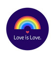 lgbt community bage love is love sticker with vector image