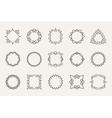 line emblems and badges frames for logo vector image