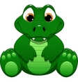 Little crocodile vector image vector image