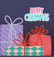 merry christmas celebration decoration gifts vector image