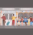 metro subway train public transport flat vector image