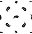 military cap pattern seamless black vector image vector image