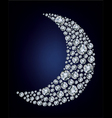 moon shape diamonds vector image vector image