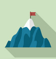 mountain business target icon flat style vector image