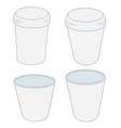 paper cups in the projector on a white background vector image vector image