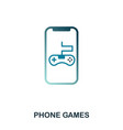 phone games icon flat style icon design ui vector image