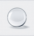 realistic 3d transparent glass spherical ball on vector image vector image