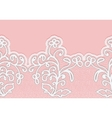 Seamless horizontal lace border with flowers vector image vector image