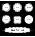 Set of 7 White Abstract Halftone Design Elements vector image