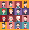 set of avatars d vector image vector image