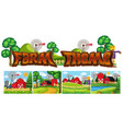 set of farm theme vector image vector image