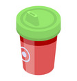 sippy cup icon isometric style vector image vector image
