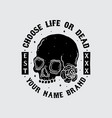 skull head shirt design vector image vector image