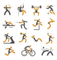 sport fitness icons vector image