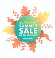 summer sale icon isolated on white vector image