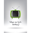 Television Set Background vector image