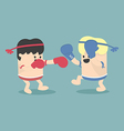 Thai boxing cartoon vector image