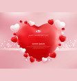 valentines day sale background with balloons vector image vector image