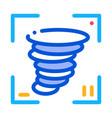 video tornado icon outline vector image vector image