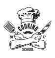 vintage cooking logo vector image vector image