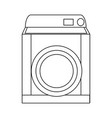 washing machine appliance laundry clean icon vector image