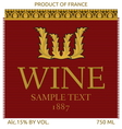 Wine label design vector image