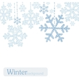 Winter snoflakes background vector image vector image