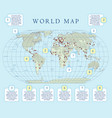 world map with infographic vector image