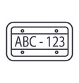 car number line icon sign on vector image