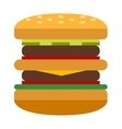 Hamburger and sandwich fast food vector image