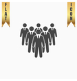 Leader standing in front of corporate crowd vector image