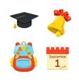 Knowledge day symbols vector image