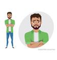 crying man negative emotion facial expression vector image