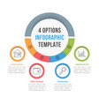 4 options infographic template vector image vector image