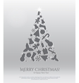 Abstract christmas card with engraving icons vector image vector image