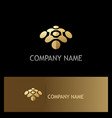 abstract dot connect technology gold logo vector image vector image