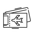 aero tickets line icon concept sign outline vector image