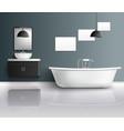 bathroom realistic interior composition vector image